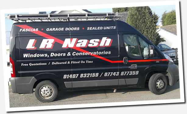 LR Nash van - anglesey double glazing