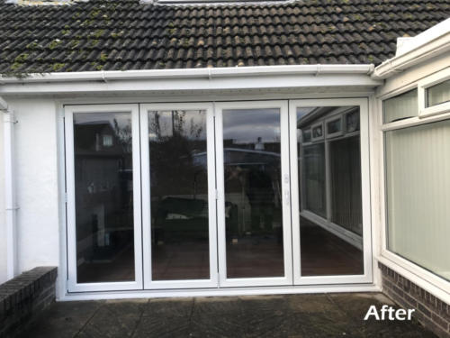 bi-fold doors anglesey after